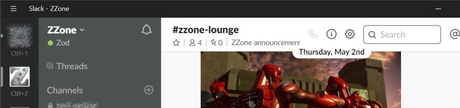 ZZone goes Slack